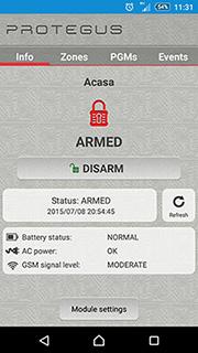 Sistem de alarma comandat prin telefon